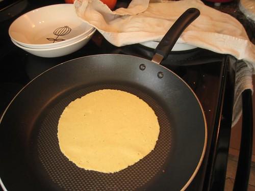tortilla in progress