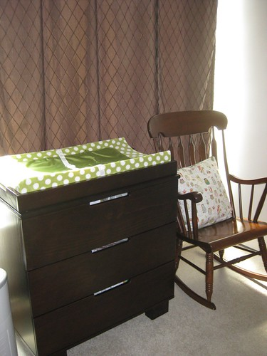 dresser and rocking chair