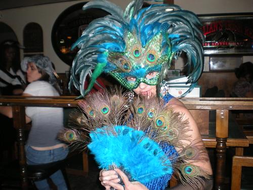 Peacocks at Seamus McCaffrey's Irish Pub