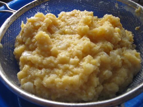 Cooked lentil mush