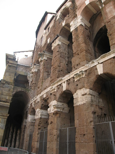 Ancient theater, now with apartments on top.
