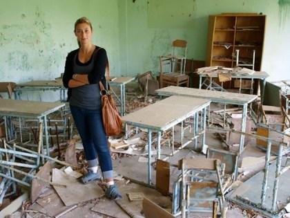 Julia Dimon in Chernobyl