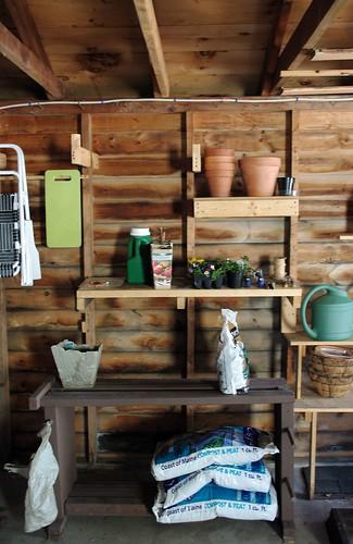 Gardening Station in the Garage