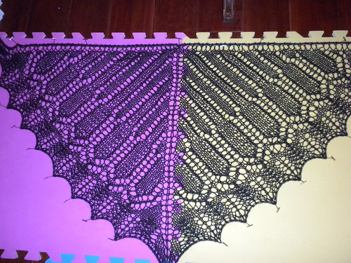 Monarch Shawl test pattern.