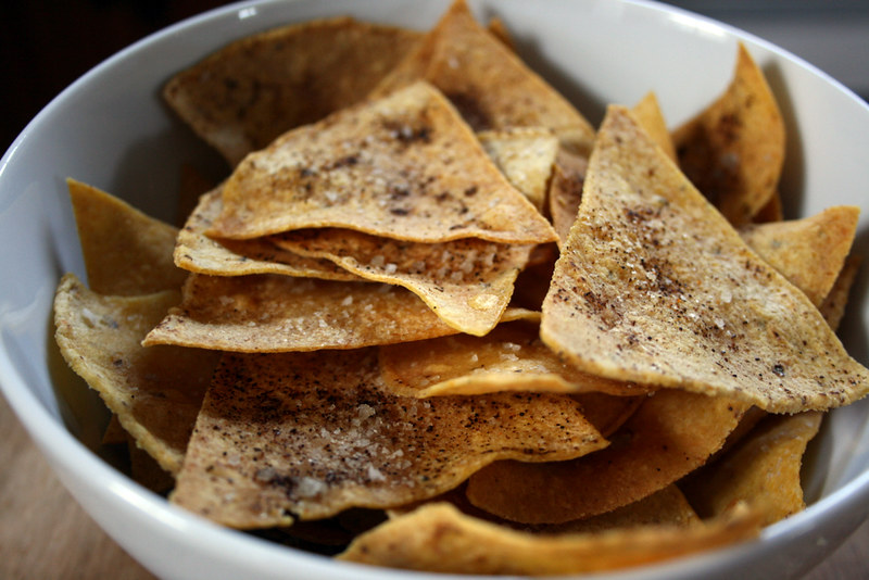 chips, sea salt, chili powder