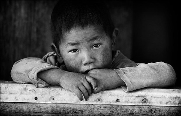 A boy in Lo Manthang, Mustang