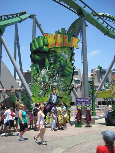 Marvel Super Hero Island:  Incredible Hulk Rollercoaster