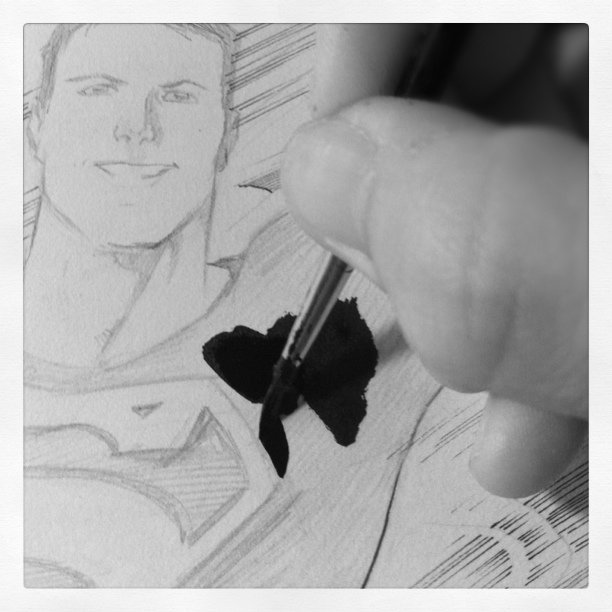 Inking #Superman #superboy #DC #comics