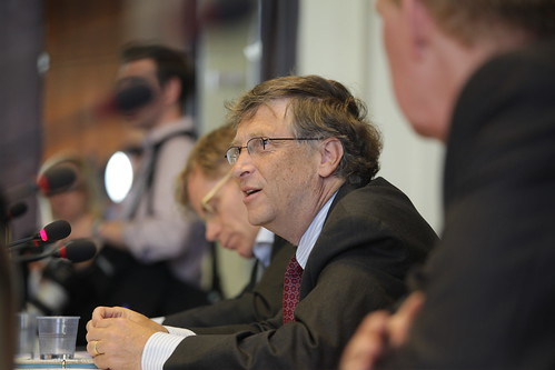 Bill Gates Addressing Health Ministers at Meeting on Polio Organized by the Gates Foundation
