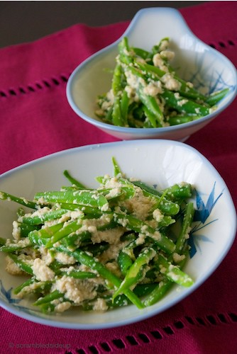 Green Beans with a Creamy Tofu Dressing
