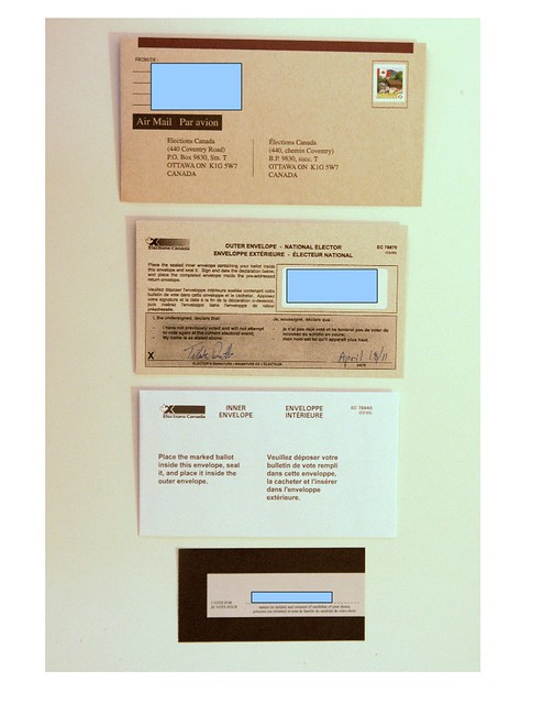 Inner envelope, outer envelope and mailing envelope.