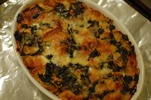 Kale and Cheese Strata