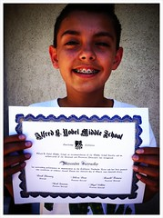 My son Alex received an award (and pizza party) for outstanding performance on his CA standards test