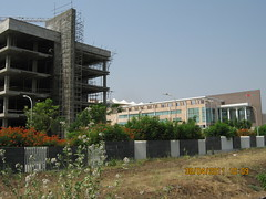 Under-construction new wing of Tech-Mahindra I...