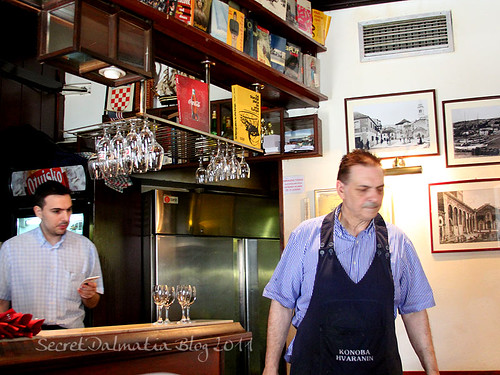 Owner and the waiter
