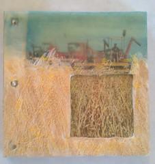 Wheat - Encaustic book cover