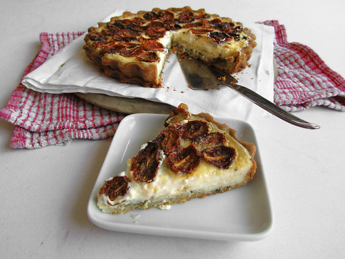 Roasted tomato & pesto tart with Parmesan crust