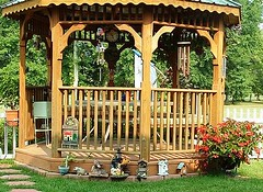 Pop's Gazebo-future home of the Air Force Garden Gnome
