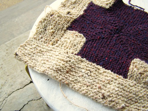 tweedy mitered blanket