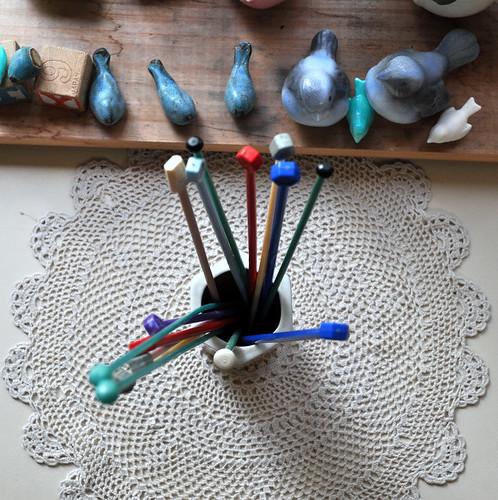 Knitting Needle Bangles ~ Thriftastic!