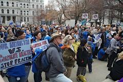 Hydrofracking Rally, Albany NY