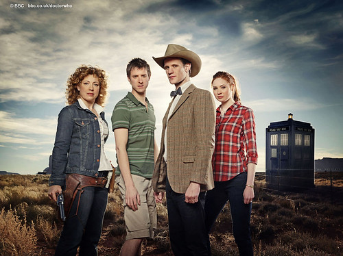 River, Rory, the Doctor and Amy