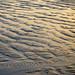 sunset glow on sand