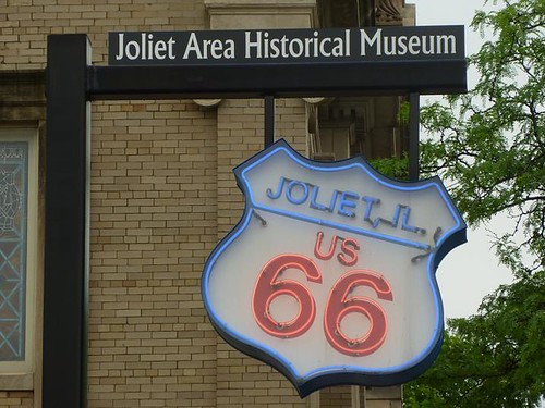IL - Route 66 final leg 041 - Joliet Rt.66 Museum sign