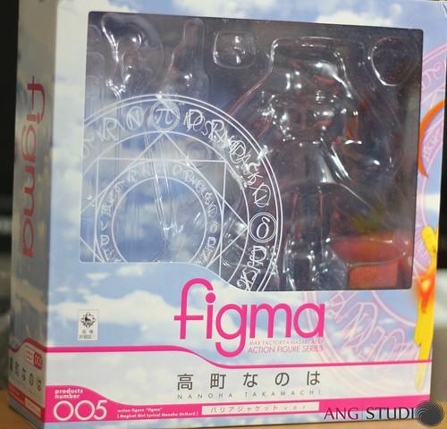 figma Nanoha Takamachi Barrier Jacket Box - Front