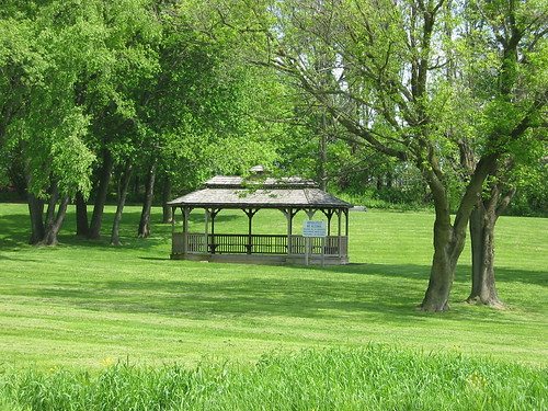 Pavillion in grassy area