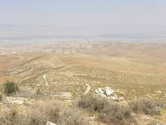 Looking east across the Judean wilderness