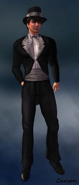 DragionLady's Closet - Maxwell Silver Glitter Tuxedo