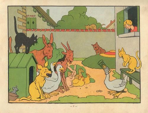 Illustration from Benjamin Rabier's Rabougri