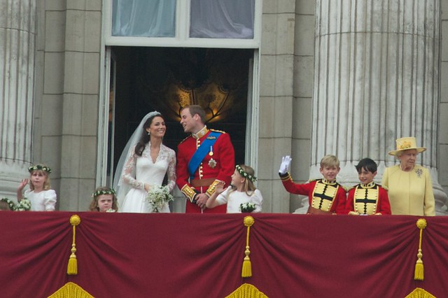 Royal Wedding balcony