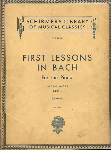 """First Lessons in Bach for the Piano"""