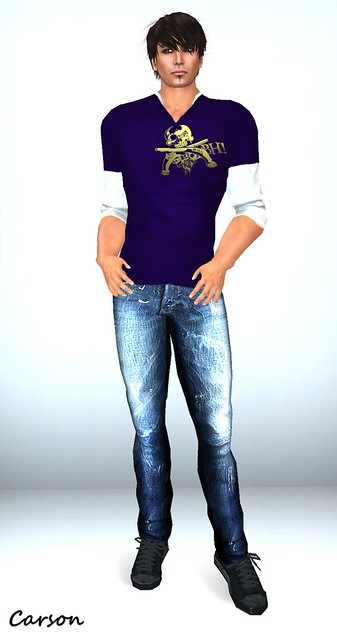 Be Happy - Skull Shirt & Spike Jeans