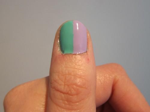 My Rainbow Nails Left Thumb