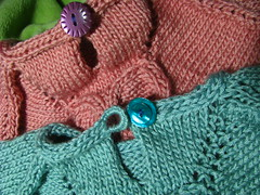 Seamless Flower Tee Test Knit Loop & Button