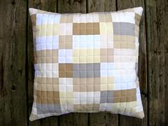 Neutral Grid Pillow