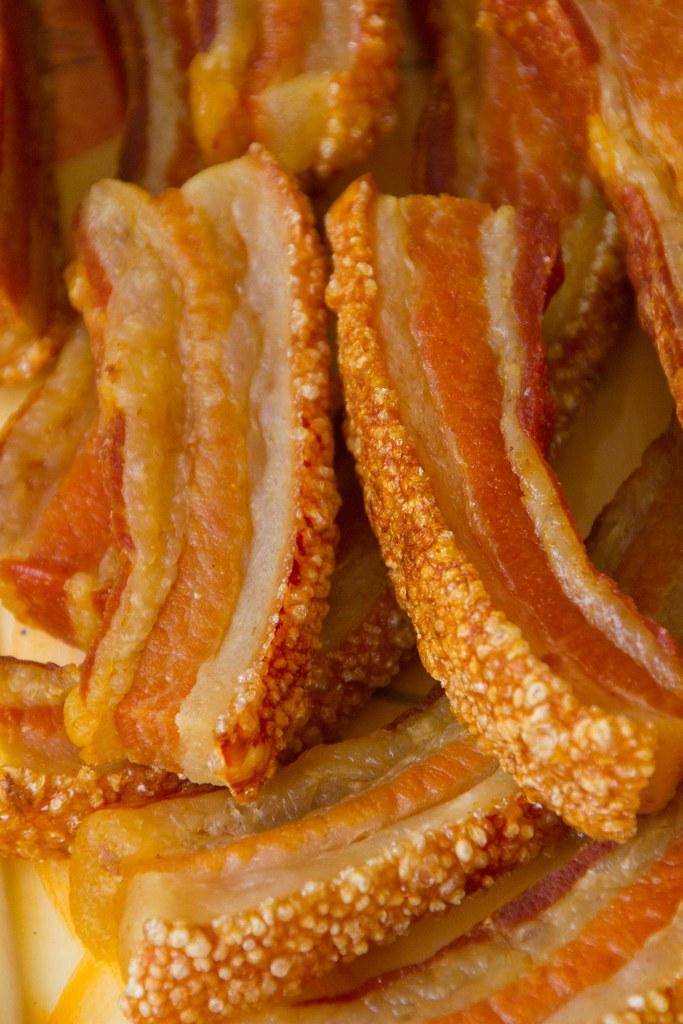 Comida con torreznos de El Burgo de Osma