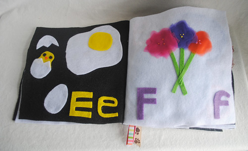 E is for Egg, F is for Flowers