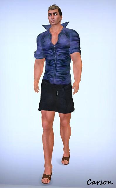 Graffitiwear - Jean Shorts, Shirt and Sandals