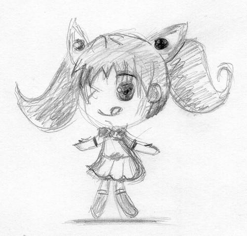 Chibi girl 2011/07/07
