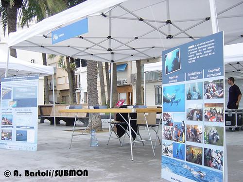 Stand de Submon a la Fira del Mar de Badalona