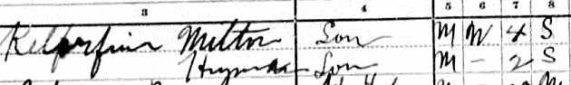 Klorfine 1910 Census part B