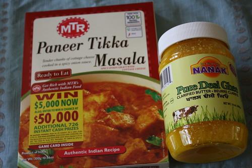 Paneer Tikka Masala, ghee