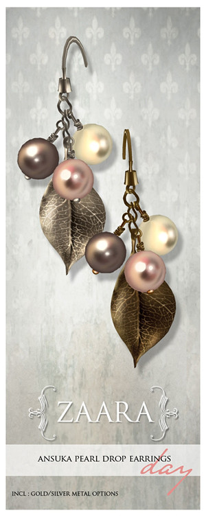 {Zaara} Ansuka pearl earrings *day*