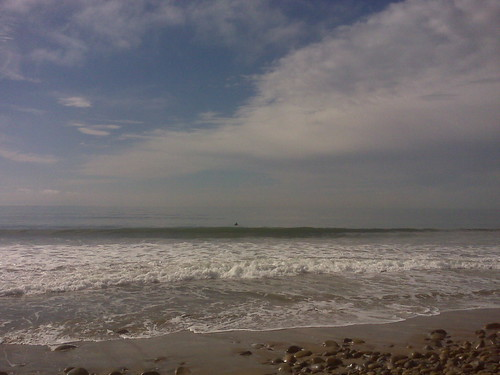 Lone surfer. Not for long, though.