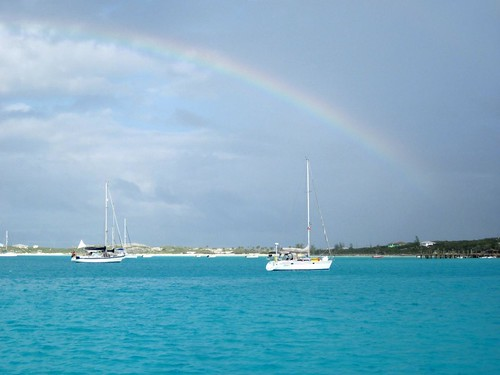 Rainbow at Black Point before the squall came through