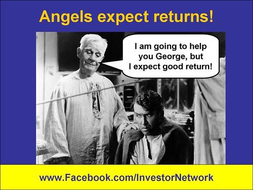 Angels investors expect returns